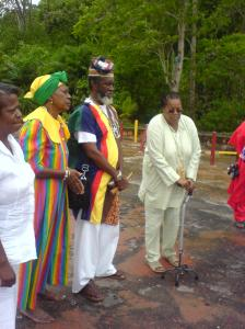 Chief Alagba Erinfolami Aworeni one of the returing devotees